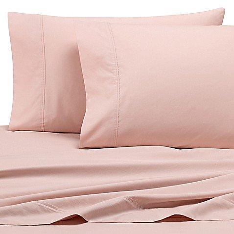 - Wamsutta Dream Zone 500-Thread-Count PimaCott Queen Sheet Set in Dream Rose Pink