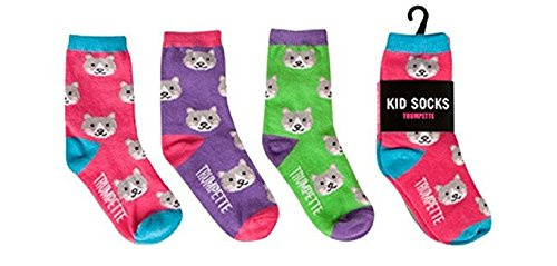 Trumpette CAT Kid Socks 3 prs Size Small 2-3 yrs Girl gift Multi-color