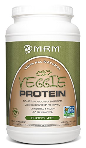 MRM All Natural Veggie Protein, Chocolate, 2.5 Pound