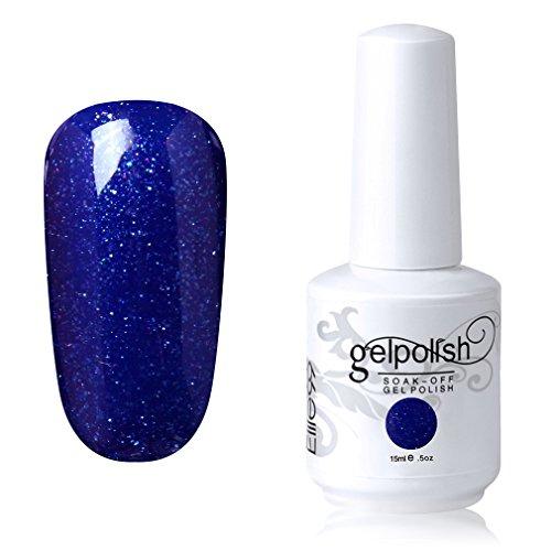 Elite99 Soak-off Gel Polish Lacquer Nail Art UV LED Manicure Varnish 15ml Pearl Navy Blue - Opi Nail Navy Polish Gel