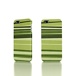 Apple iPhone 5 / 5S Case - The Best 3D Full Wrap iPhone Case - Green Stripes