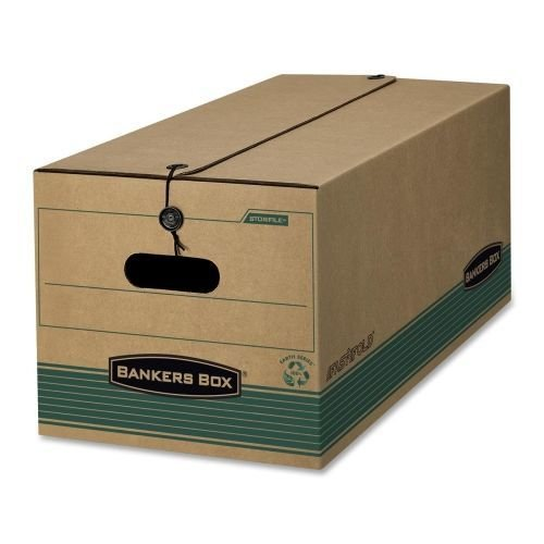 Button Recycled Storage File - Wholesale CASE of 2 - Fellowes Bankers Box Stor/File Storage Boxes-Recycled Stor/File, Legal, 15