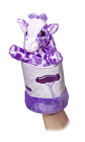 "Aurora World Pop-Up Purple Giraffe Plush Puppet, 11"" Tall"