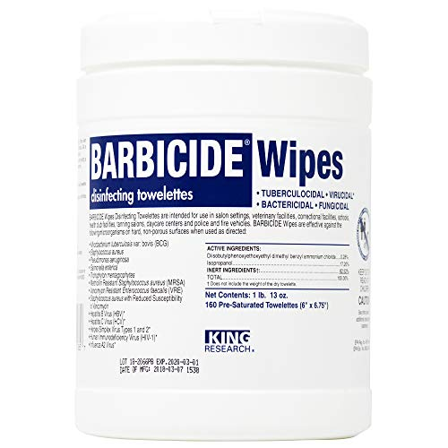 - Barbicide Disinfectant Wipes