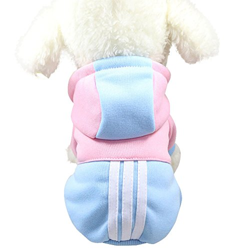 Dog Clothes Wakeu Puppy Pet Winter Coat jacket Hooded Dog Warm Clothing for Small Medium dogs (M, Blue)