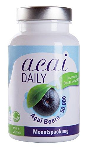 acai DAILY 50.000mg - Höchstdosierte Premium Qualität auch für Veganer, Monatspackung von evitaplus