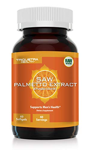 (Saw Palmetto Extract (100% Extract) Plus Pumpkin Seed Oil: Pharmaceutical Grade Saw Palmetto Extract - Potent DHT Blocker, Supports Prostate Health & Testosterone Levels 60 softgels)