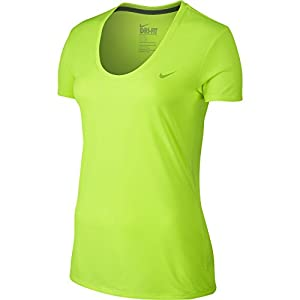 Nike Women's Legend 2.0 V-Neck Training Tee Volt/Volt XL