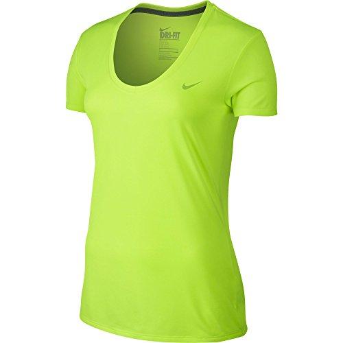 Nike Women's Legend 2.0 V-Neck Training Tee Volt/Volt XL