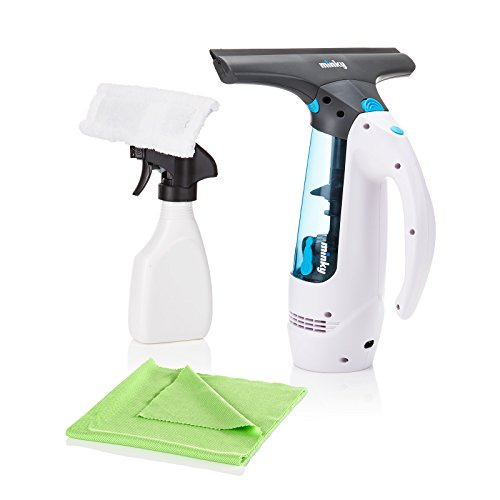Minky Rechargeable Window Vac - Cordless Handheld Glass Mirror Cleaner Device including Minky M Glass and Window Cloth