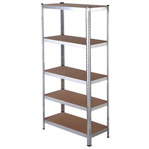 5 Level Shelves Storage Organizer Heavy Duty Shelf Garage Steel Metal Rack Organizer Adjustable by Brother123shop