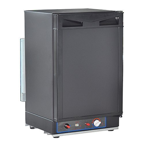 SMETA Electric/Gas RV Truck Refrigerator for camping, AC/DC/Propane,1.4 Cu ft,Black by SMETA