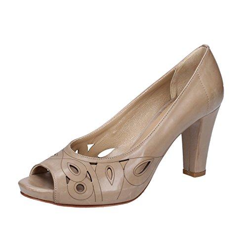 CALPIERRE Zapatos de vestir de Piel para mujer Beige Beige scuro