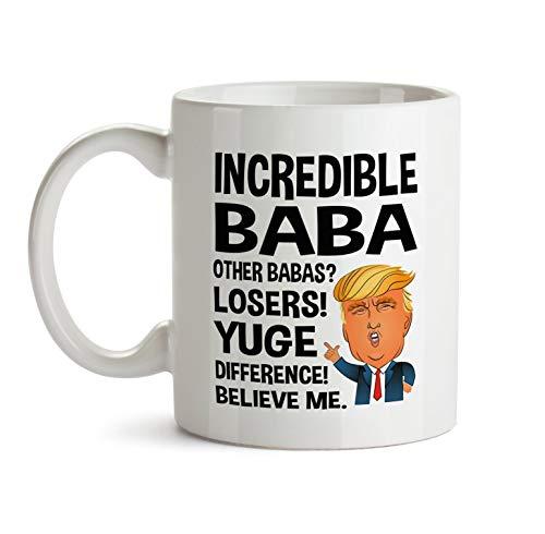 Baba Gift Trump Mug For Baba Gift Christmas Gifts For Baba Funny Mugs With Sayings Baba Mug Baba Coffee Cup Baba Gift Funny Baba Mug 11oz -