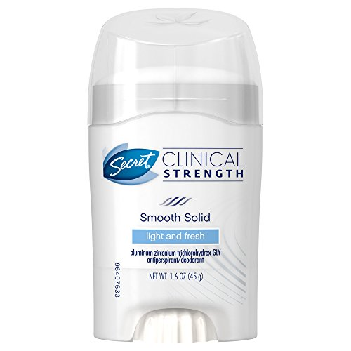 Secret Clinical Strength Smooth Solid Deodorant, Light and Fresh, 1.6 Ounce (Pack of 2)