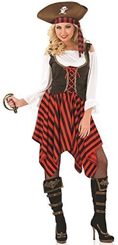 Ladies Sexy Pirate Girl with Hat Halloween Fancy Dress Costume Outfit UK 8-22 Plus  sc 1 st  Amazon UK & Ladies Sexy Pirate Girl with Hat Halloween Fancy Dress Costume ...