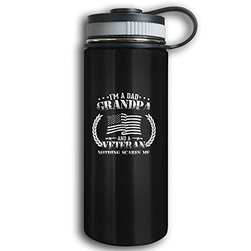 Water Meter Halloween Costume - Stainless Steel Sports Water Bottle, Double Wall Vacuum Insulated I'm A Dad Grandpa Flask Bottle – Leak & Sweat Proof Flask - Cold/Hot Drinks For 12 Hours Black