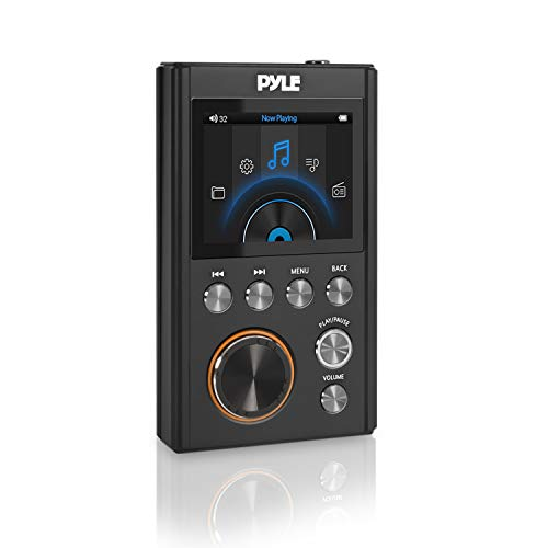 Pyle New Generation HiFi Digital Lossless Hi-Res Music Player- Portable High Resolution Digital Audio Player with USB Drive / 128 GB MAX Micro SD Card Reader, Supports Multiple Audio Formats PDAP18BK