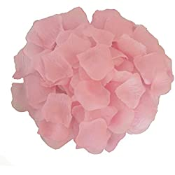 AFrom Here Silk Rose Petals Wedding Flowers Favors 500PCS (Light Pink)