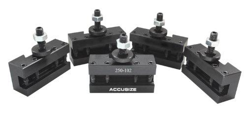 AccusizeTools - 5 Pcs of AXA Boring Turning & Facing Holder, Quick Change Tool Holder, - Facing Holder
