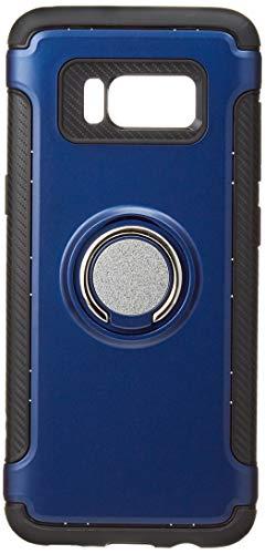 Galaxy S8 케이스 링&메탈 플레이트 부착TPU케이스【강화 유리 부착】3점 세트 SAMSUNG(삼성) 로얄 블루 3349-1-03