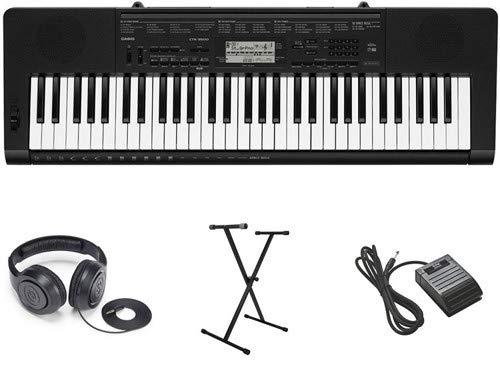 Casio CTK-3500 Premium Keyboard Package with Headphones, Stand, and Sustain Pedal