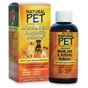 Tomlyn Products Natural Pet Pharmaceuticals Muscle, Joint & Arthritis Reliever For Dogs 4 oz