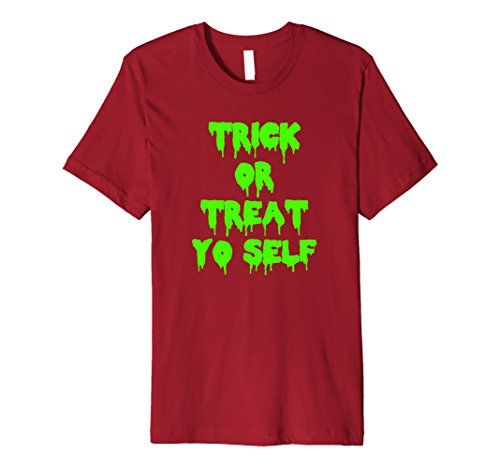 Self Made Halloween Costumes For Men (Mens Trick or Treat Yo Self Halloween Costume Tshirt Large Cranberry)