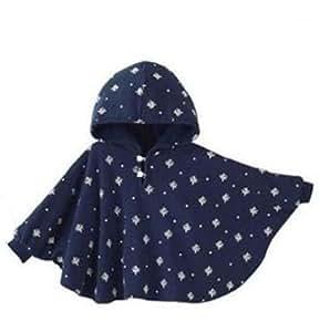 Genda 2Archer Vintage London Baby Reversible Cloak Hoodie Poncho Dark Blue Small