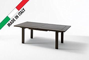 Fesselnd Tisch Maxi Ausziehbar 220/300 X 110 Cm Metall Garten Terrasse Balkon Farbe  Bronze