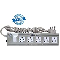 JMD GOLD Multi-Purpose Power Strip Cord 5 Plus 1, 6 AMP with Long Wire