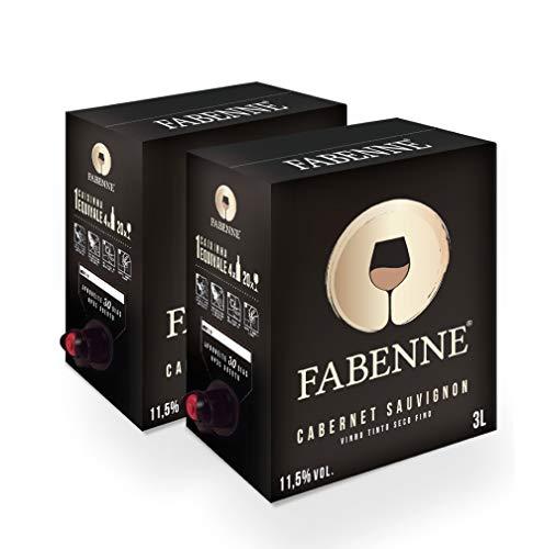 Fabenne Kit 2 Unidades Vinho Tinto Cabernet Sauvignon - Bag-in-Box 3 Litros cada