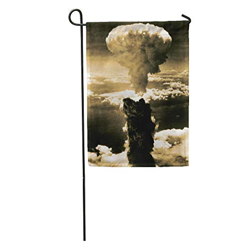 Semtomn Garden Flag Atomic Bomb Mushroom Cloud Rises More Than 60 000 Feet Home Yard House Decor Barnner Outdoor Stand 28x40 Inches Flag