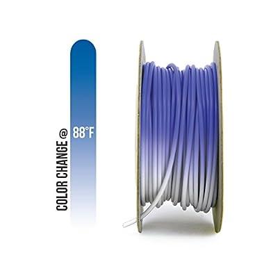 Gizmo Dorks PLA Filament 3mm (2.85mm) 200g for 3D Printers, Heat Color Change Blue to White