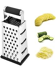 LERT 4-in-1 rasp aardappelrasp multifunctionele rasp roestvrij stalen rasp groenterasp voor fruit/aardappelen/komkommers/groenten