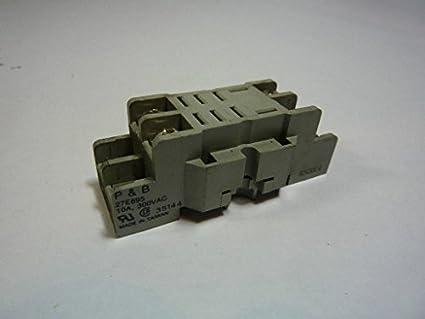 1 piece TE CONNECTIVITY // POTTER /& BRUMFIELD 27E895 RELAY SOCKET 8 10A 240VAC