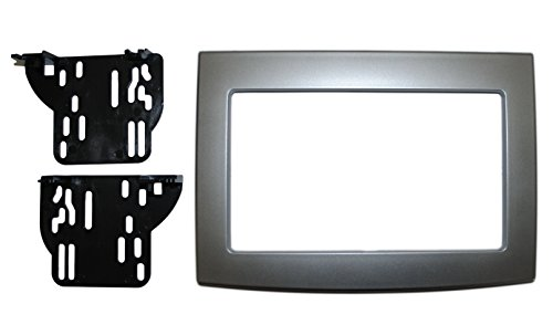 Silver Double Din Dash Kit Compatible with Dodge Ram 2006-2010 Truck Car Stereo Radio Install Kit
