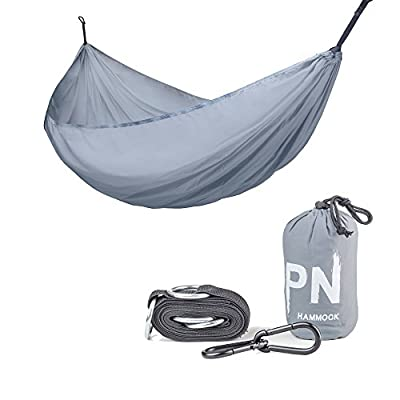 Travel Camping Hammock Professional Grade Ripstop Parachute Nylon Strength -Lightweight, Compact & Portable Best for Backpacking Hiking Beach Yard - Tree Friendly Strap & Carabiners Included