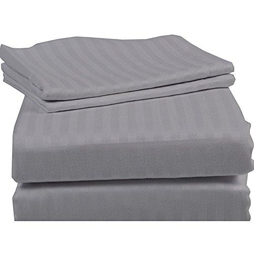 er Sofa Bed Sheet Set ( Stripe ) Egyptian Cotton Silver Grey ( Full Size 54