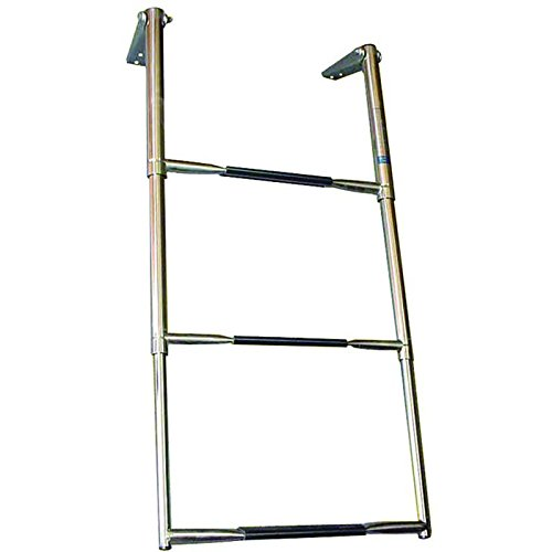 White Water Wide Over Platform Telescoping Ladder (3-Step)