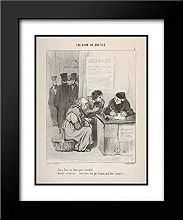 Amazoncom Honore Daumier 20x24 Black Modern Frame And