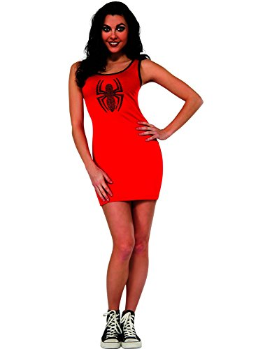 Rubie's Costume Women's Marvel Universe Adult Spider-Girl Rhinestone Tank Dress, Multi, Medium