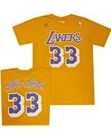 Los Angeles Lakers Kareem Abdul Jabbar Throwback Adidas T Shirt