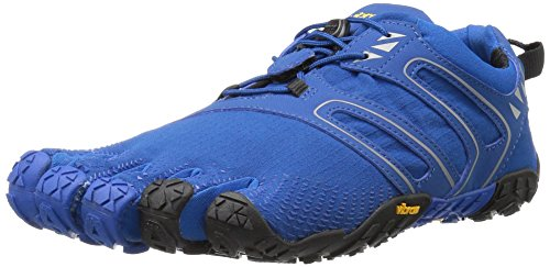 Vibram Men's V Trail Runner, Blue/Black, 7.5-8 M US / 39 EU