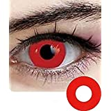 Cosplay Eyes Multi-Color Contact Lenses Cosplay Eyes Cute Colored Charm and Attractive Blends Cosmetic Makeup Eye Shadow (red)