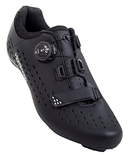 Tommaso Strada Elite - Quick Lace Style Road Bike Cycling Shoe - 45 Black