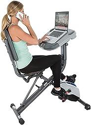 Exerpeutic Exerwork Fully Adjustable Desk Folding Exercise Bike with Optional 24 Programs, Bluetooth Smart Clo