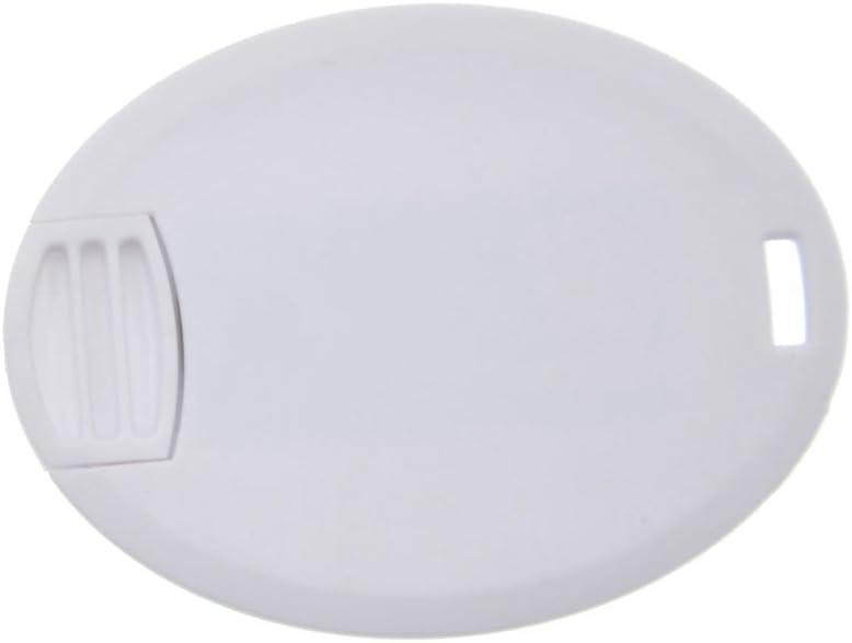 White FEBNISCTE 5 Pack 16GB Mini Thumb Drives USB 2.0 Stick Ellipse Slim Credit Card