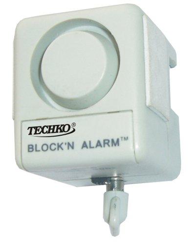 Techko SO62 Block N Alarm Sliding Glass Door Vibration Sensor Alarm
