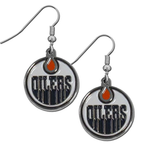 NHL Edmonton Oilers Chrome Dangle Earrings (Edmonton Accessories Bar)